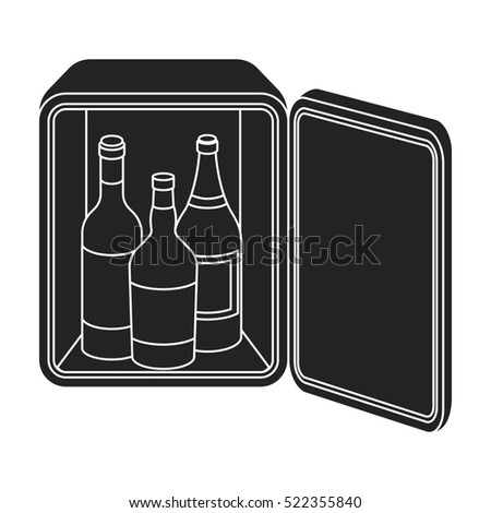minibar icon black style isolated on stock illustration 522355840 shutterstock. Black Bedroom Furniture Sets. Home Design Ideas