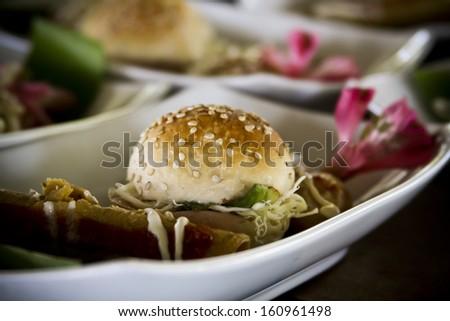 Mini Burger - stock photo