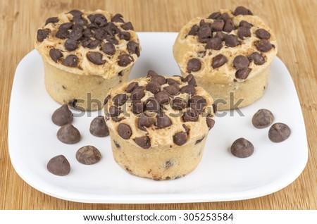 Mini chocolate chip muffins - stock photo