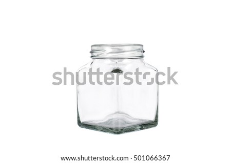 Mini clear glass bottle isolated on white background with clipping path.