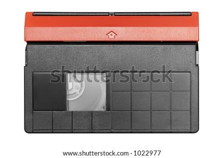 Mini DV Cassette w/ Path (Top View) - stock photo