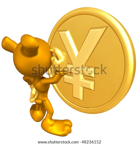 Mini Gold Guy Bear With Gold Coin