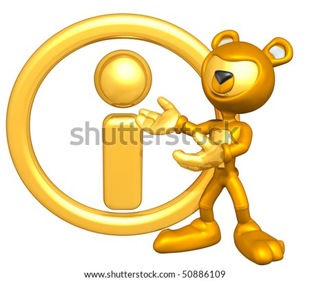 Mini Gold Guy Bear With Info