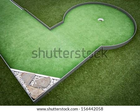 Mini golf - stock photo