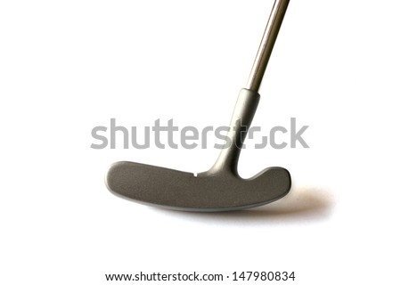 Mini Golf Stick without balls on an isolated background - stock photo
