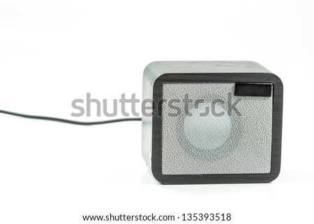 Mini Loudspeaker isolated on a white background