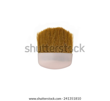 mini  make up brush  on white background - stock photo