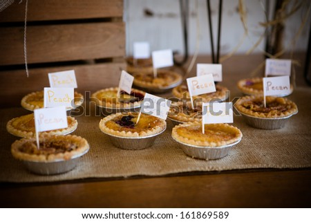 Mini Pies Southern Wedding Reception Stock Photo (Royalty Free ...