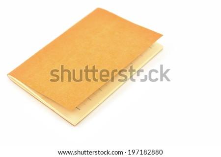 Mini pocket note book isolated on white background - stock photo