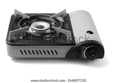 Mini Portable Gas Stove on White Background
