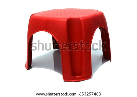 Mini red plastic stool isolated on white background.  sc 1 st  Shutterstock & Low Stools Stock Images Royalty-Free Images u0026 Vectors | Shutterstock islam-shia.org