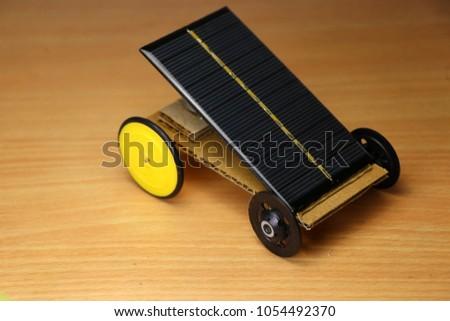 Mini Solar Powered Car Working Model Stock Photo (100% Legal ...