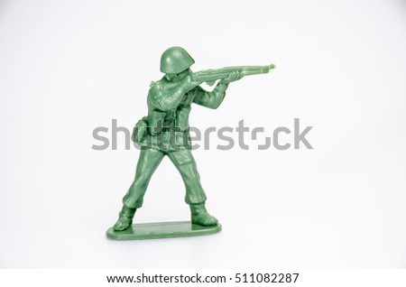 mini soldiers toy on white