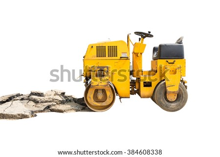 Mini Steamroller isolated on white background
