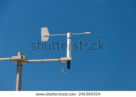 Mini Weather station against the blue sky - stock photo