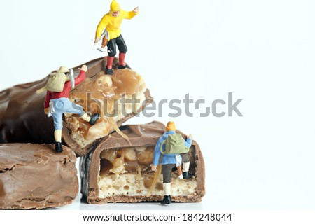 Miniature climber recreation - stock photo