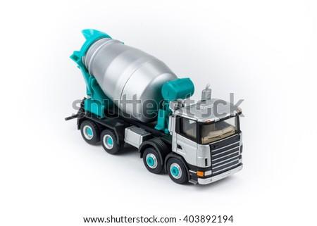 Miniature concrete mixer truck  - stock photo