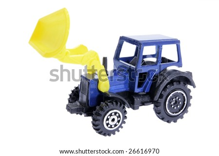Miniature Earth Mover on White Background - stock photo