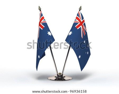 Miniature Flag of Australia  (Isolated with clipping path) - stock photo