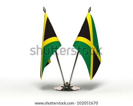 Miniature Flag of Jamaica (Isolated with clipping path) - stock photo