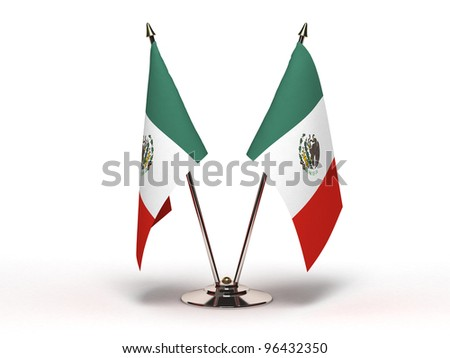 Miniature Flag of Mexico (Isolated) - stock photo