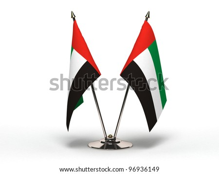 Miniature Flag of United Arab Emirates  (Isolated with clipping path)