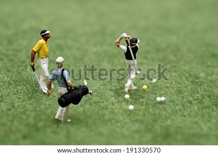 Miniature golfer - stock photo
