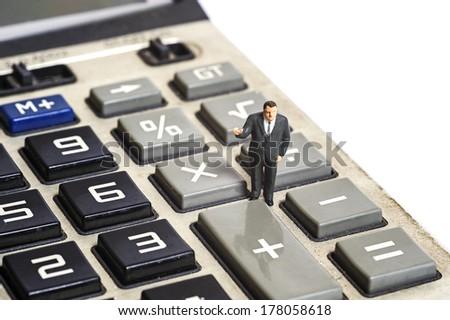 Miniature people finance concept - stock photo