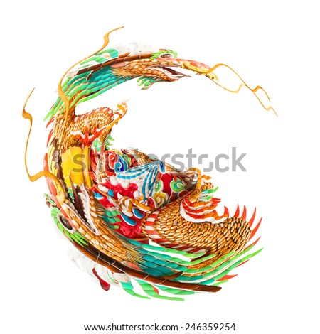 Miniature planet of dragons statue  - stock photo
