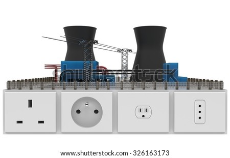 Miniature power plant with sockets