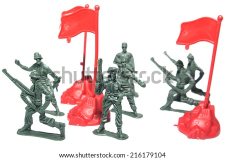 miniature toy soldiers   - stock photo