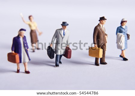 miniature traveler's - stock photo