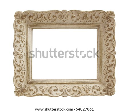 Miniature vintage picture frame made entirely of plaster - stock photo
