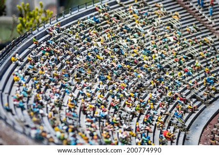 miniatures in the arena - stock photo