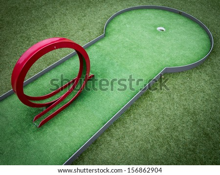 Minigolf - stock photo