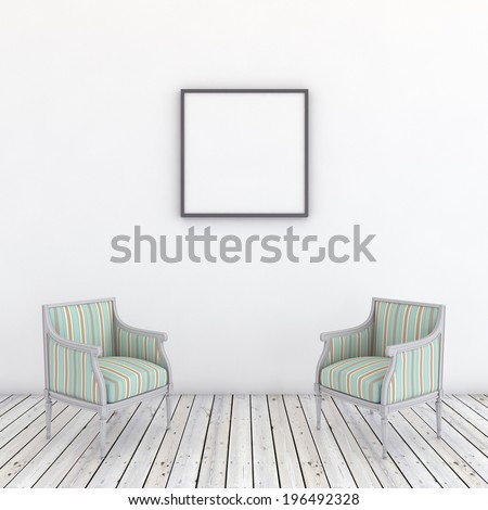 Minimal modern interior - stock photo