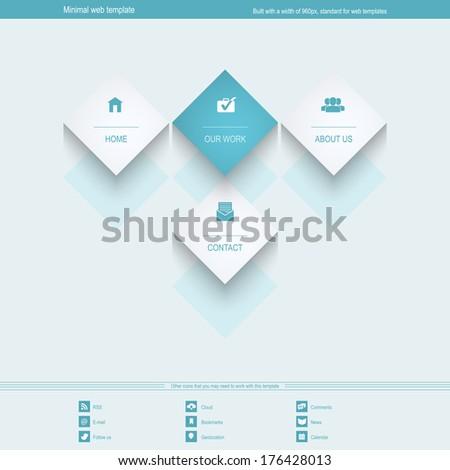 minimal web template corporate portfolio siteのイラスト素材