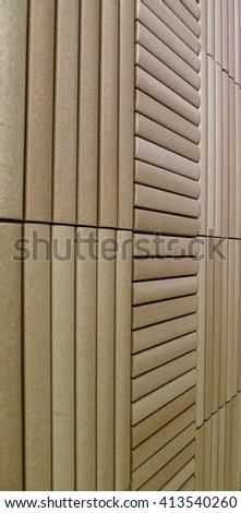 Minimalism. Bamboo Tiles Wall, for Interior Design - stock photo