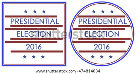 Minimalism Style Vote or Voting Campaign Election Pin Button or Badge. Use this pin on infographics, blog headers, flyers, stickers, badge.