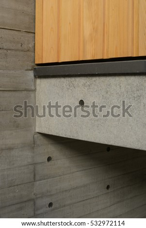 Minimalist concrete wall in Japan