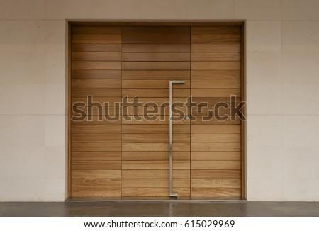 minimalist door front door wooden door big wooden door & Minimalist Door Front Door Wooden Door Stock Photo 615029969 ...