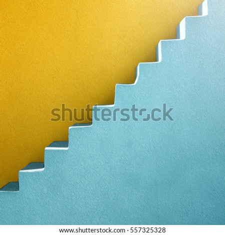Minimalist vibrant background material design stairs