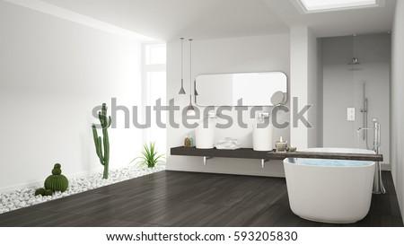 astounding calming modern minimalist bathroom white | Girl Relaxing Bathtub Stock Photo 524407435 - Shutterstock