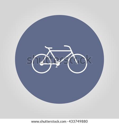 Minimalistic bicycle icon.  - stock photo