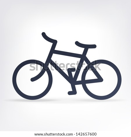 Minimalistic bicycle icon. Raster version, vector file available in portfolio. - stock photo