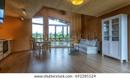 wood cottage kitchen family beam room wood stock images royalty free images vectors