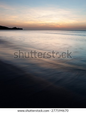 Minimalistic seascape at twilight - stock photo