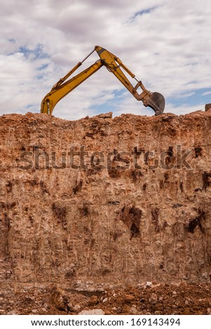 mining at Whyte Dam - stock photo