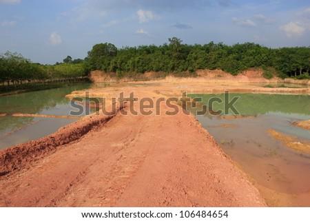 Mining excavation - stock photo