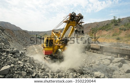 Mining in the quarry is not possible without trucks